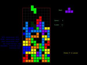 fullscreen tetris