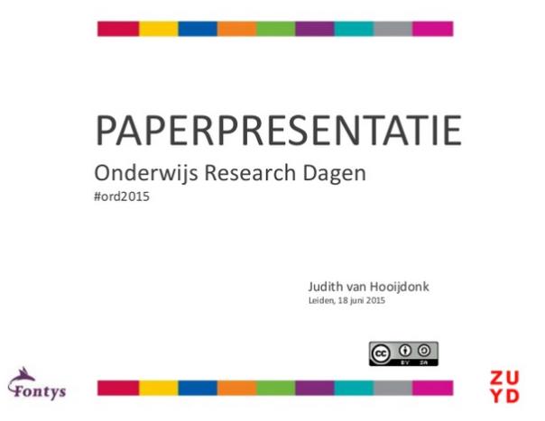 PaperpresentatieORD2015